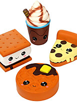 cheap -4 Pcs Squishies Big Eyes Pizza Biscuit Waffle Coffe Cup Slow Rising Scented Jumbo Squishy Squeeze Squishies Toys and Gifts