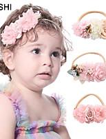 cheap -Kids / Toddler Girls' Cross-Border Creative Stitching Fabric Pearl Rhinestones Children's Nylon Hairband Soft Elastic Baby Headband