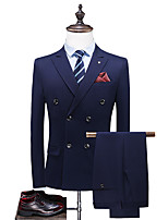 cheap -Tuxedos Standard Fit Peak Single Breasted Two-buttons Polyester Striped