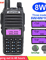 cheap -8w portable radio walkie talkie baofeng uv-82 dual ptt button two-way radio vhf uhf dual band baofeng uv 82 uv82 two way radio
