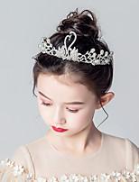 cheap -Kids / Toddler Girls' Headdress Children's Crown Headdress Wreath Rhinestone Headband Children's Show Girls' Birthday  Hair Accessories Spring And Summer New