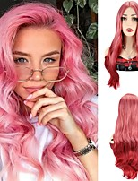 cheap -Pink Red Ombre Wigs Synthetic Hair Wigs Color Wigs Body Wave Wigs Cosplay Party Wigs For Women