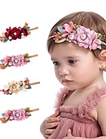 cheap -1pcs Kids / Toddler Girls' Cross-Border European And American Creative Lace Fabric Flower Children's Nylon Hair Band Fashion Belt Pearl Cute Princess Children Hair Accessories