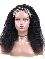 cheap -Kinky Curly Headband Human Hair Wigs for Black Women Glueless None Lace Front Wigs Headband Half Wig Human Hair 150% Density Brizilian Virgin Hair Machine Made Headband Wig Human Hair 12-30Inch