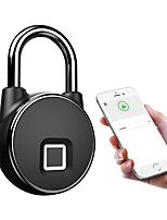 cheap -Anytek P22+ Bluetooth Fingerprint Padlock Two Ways Unlock Fashion Sturdy Security smart pack lock USB charge IP66 Waterproof