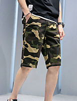"""cheap -Men's Hiking Shorts Hiking Cargo Shorts Military Camo Summer Outdoor 12"""" Ripstop Quick Dry Multi Pockets Breathable Cotton Knee Length Bottoms Yellow Army Green Grey Khaki Work Hunting Fishing 28 29"""