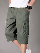 "cheap -Men's Hiking Shorts Hiking Cargo Shorts Summer Outdoor 12"" Ripstop Quick Dry Multi Pockets Breathable Cotton Below Knee Bottoms Yellow Army Green Black Grey Khaki Work Hunting Fishing XL XXL XXXL 4XL"