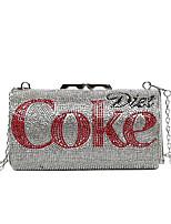 cheap -Women's Bags Evening Bag Top Handle Bag Glitter Shine Party Evening Bag 2021 Handbags Red Silver