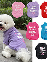 cheap -Dog Cat T-shirts Puppy Clothes Dog clothes Word / Phrase Princess Lips Princess Cute Sweet Traveling Casual / Daily Dog Clothes Puppy Clothes Dog Outfits Breathable Black Purple Red Costume for Girl