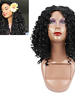 cheap -Short Hair Afro Kinky Curly Wigs For Black Women African Synthetic Ombre Glueless Cosplay Wigs High Temperature Wig Free Cap
