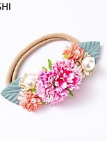 cheap -cross-border european and american creative simulation multi-color flower children's hair band fashion belt pearl soft nylon baby hair accessories