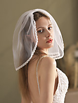 cheap -One-tier Lace / Cute Wedding Veil Shoulder Veils with Faux Pearl Lace / Tulle