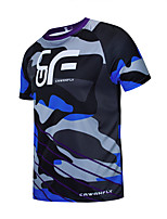 cheap -CAWANFLY Men's Short Sleeve Cycling Jersey Downhill Jersey with Pants Dirt Bike Jersey Summer Bule / Black Novelty Funny Bike Tee Tshirt Jersey Top Mountain Bike MTB Road Bike Cycling Quick Dry