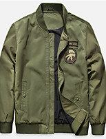 cheap -Men's Hiking Jacket Baseball Jersey Hiking Windbreaker Autumn / Fall Spring Summer Outdoor Windproof Quick Dry Lightweight Breathable Outerwear Coat Top Hunting Fishing Climbing Army Green Dark Blue
