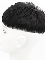 cheap -wig men's short hair top replacement piece men's wig korean style handsome real hair long-lasting hot fluffy natural wig piece
