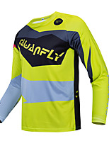cheap -CAWANFLY Men's Long Sleeve Downhill Jersey with Pants Dirt Bike Jersey Winter Yellow Novelty Funny Bike Tee Tshirt Jersey Top Mountain Bike MTB Road Bike Cycling Breathable Sports Clothing Apparel