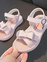 cheap -Girls' Sandals Comfort Flower Girl Shoes Princess Shoes Rubber PU Little Kids(4-7ys) Big Kids(7years +) Daily Home Walking Shoes Purple Pink Spring Summer