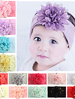 cheap -new soft nylon hair accessories creative bronzing chiffon flower headband baby hair accessories cute princess hair band