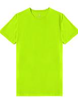 cheap -Cikrilan Men's T shirt Hiking Tee shirt Short Sleeve Crew Neck Tee Tshirt Top Outdoor Quick Dry Lightweight Breathable Soft Autumn / Fall Spring Summer Spandex Polyester White Black Orange Hunting