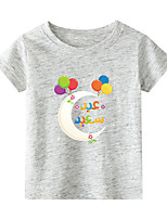 cheap -Kids Boys' T shirt Short Sleeve Black & Red Graphic Daily Wear Print Children Children's Day Summer Tops Active Regular Fit White Black Blue 2-9 Years