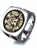 cheap -mens womens masonic ring 32 degree scottish rite master freemason titanium steel signet band size 7-14