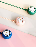 cheap -Portable Hand-held Neck-hanging Mini Charging Fan Home Office Sports Mini Fan