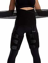 cheap -nobranded 3 in 1 waist trainer for women, high waist body shaper, fitness weight butt lifter slimming support belt hip enhancer shapewear thigh trimmers (black, l/xl)