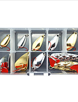 cheap -10 pcs Lure kit Fishing Lures Spoons Sinking Bass Trout Pike Lure Fishing Freshwater and Saltwater