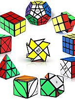 cheap -QiYi Speed Cubes, [10 Pack] Speed Cube Set - 2x2x2 3x3x3 2x2x3 Skew Axis Windmill Fisher Megaminx Pyramid Ivy Cube Smooth Magic Cubes Puzzles Collection