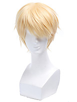 cheap -Wig Seraph Of The End Mikaela Hyakuya Cosplay Wigs Blonde Short Straight Men Cosplay Wig Heat Resistant Synthetic Hair