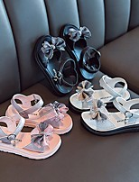 cheap -Girls' Sandals Comfort Children's Day Princess Shoes PU Big Kids(7years +) Daily Party & Evening Walking Shoes Buckle White Black Pink Spring Summer