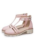 cheap -Women's Sandals Chunky Heel Round Toe PU Synthetics Pink