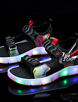 cheap -Unisex Sandals Comfort Microfiber Light Up Shoes Big Kids(7years +) Daily Walking Shoes Black Yellow Summer