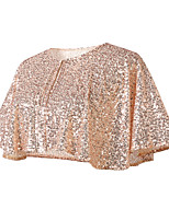 cheap -Sleeveless Glitters / Elegant Polyester Party / Evening / Wedding Party Shawl & Wrap With Glitter / Paillette