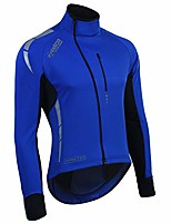 cheap -zimco pro men winter cycling jackets high viz bicycle jersey windproof thermal insulated jacket (blue, small)
