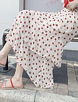 cheap -Women's Vacation Beach Casual Streetwear Skirts Polka Dot Layered Ruffle Print Orange Beige