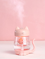 cheap -Kitty Cat Air Humidifier Portable 350mL Aroma Essential Oil Diffuser 3 In 1 Night Light and USB Fan Beautifully Bedroom