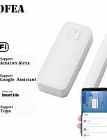 cheap -Wofea 433mhz / Wifi Wireless Window & Door Sensor Wifi Contact Magnetic Detector Smart Door Sensor Battery Not Included