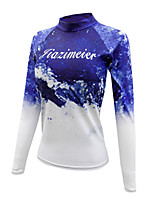 cheap -Women's Diving Rash Guard Spandex Swimwear UV Sun Protection Quick Dry Long Sleeve Swimming Diving Surfing Snorkeling Tie Dye Autumn / Fall Spring Summer