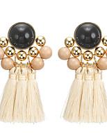 cheap -tassel earring alloy resin earring earrings foreign trade fashion jewelry