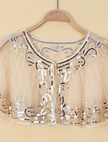 cheap -Sleeveless Glitters / Elegant Tulle Wedding / Party / Evening Women's Wrap With Paillette