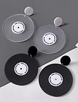 cheap -Women's Drop Earrings Statement Earrings Jewelry White / Black For Date Festival 1 Pair
