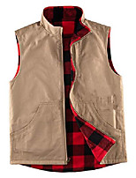 cheap -Men's Fishing Vest Hiking Fleece Vest Sleeveless Vest / Gilet Winter Jacket Top Outdoor Thermal Warm Windproof Fleece Lining Quick Dry Autumn / Fall Winter Spring Black black, grey Army green-black