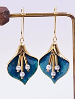 cheap -Women's Hoop Earrings Geometrical Floral Theme Stylish Simple Basic Boho Earrings Jewelry Golden For Gift Daily Festival 1 Pair