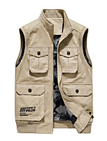 cheap -Men's Hiking Fishing Vest Work Vest Outdoor Casual Lightweight with Multi Pockets Autumn/Fall Spring Summer Travel Cargo Safari Photo Wear Resistance Breathable Waistcoat Jacket Coat Top