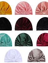 cheap -gold velvet knotted hat, children's indian hat, men's and women's baby tire hat, baby hat autumn and winter