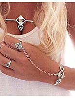 cheap -olbye crystal finger ring bracelet boho silver slave bracelet hand chain personalize everyday bracelet body jewelry for women and teen girls