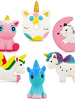 cheap -Unicorn Squishy Toys Squishies - 6 Pack Unicorn Squishies Jumbo Horse Kawaii Soft Scented Animal Squishies Pack Unicorn Gifts for Girls Galaxy Squishy Unicorn Birthday Party Favors Easter Egg Fillers