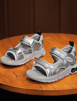 cheap -Boys' Sandals Comfort PU Big Kids(7years +) Daily Water Shoes Walking Shoes Black Silver Summer