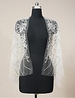 cheap -Sleeveless Luxurious / Bridal Tulle Wedding / Wedding Party Women's Wrap With Crystal / Rhinestone